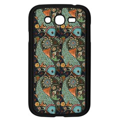 Pattern Background Fish Wallpaper Samsung Galaxy Grand Duos I9082 Case (black) by Celenk