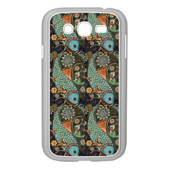 Pattern Background Fish Wallpaper Samsung Galaxy Grand Duos I9082 Case (white) by Celenk