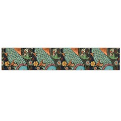 Pattern Background Fish Wallpaper Large Flano Scarf  by Celenk