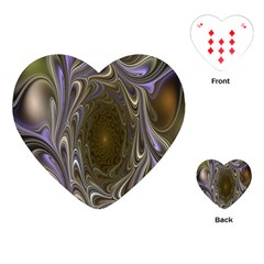 Fractal Waves Whirls Modern Playing Cards (heart)  by Celenk