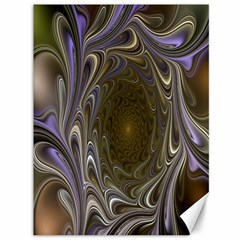Fractal Waves Whirls Modern Canvas 36  X 48   by Celenk