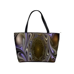 Fractal Waves Whirls Modern Shoulder Handbags by Celenk