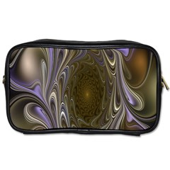 Fractal Waves Whirls Modern Toiletries Bags 2 Side