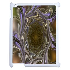 Fractal Waves Whirls Modern Apple Ipad 2 Case (white) by Celenk