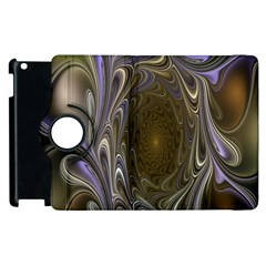 Fractal Waves Whirls Modern Apple Ipad 3/4 Flip 360 Case by Celenk