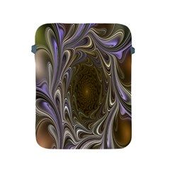 Fractal Waves Whirls Modern Apple Ipad 2/3/4 Protective Soft Cases by Celenk