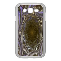 Fractal Waves Whirls Modern Samsung Galaxy Grand Duos I9082 Case (white) by Celenk