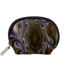 Fractal Waves Whirls Modern Accessory Pouches (small)