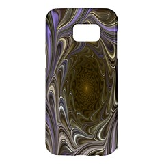 Fractal Waves Whirls Modern Samsung Galaxy S7 Edge Hardshell Case