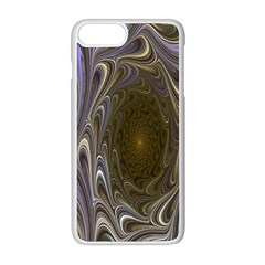 Fractal Waves Whirls Modern Apple Iphone 8 Plus Seamless Case (white) by Celenk