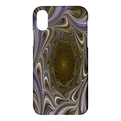Fractal Waves Whirls Modern Apple Iphone X Hardshell Case by Celenk