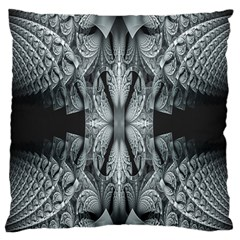 Fractal Blue Lace Texture Pattern Large Flano Cushion Case (two Sides) by Celenk