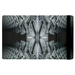 Fractal Blue Lace Texture Pattern Apple Ipad Pro 9 7   Flip Case by Celenk
