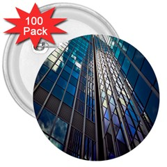 Architecture Skyscraper 3  Buttons (100 Pack)  by Celenk