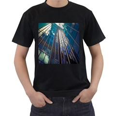 Architecture Skyscraper Men s T Shirt (black) (two Sided)