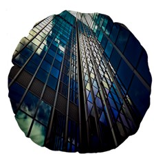 Architecture Skyscraper Large 18  Premium Flano Round Cushions by Celenk