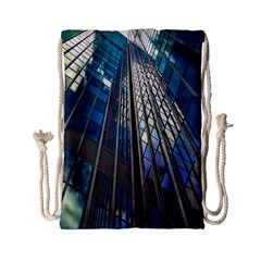 Architecture Skyscraper Drawstring Bag (small) by Celenk
