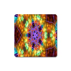 Kaleidoscope Pattern Ornament Square Magnet