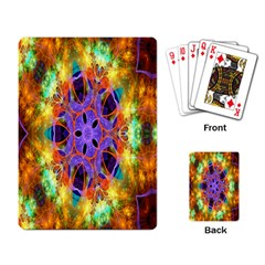 Kaleidoscope Pattern Ornament Playing Card