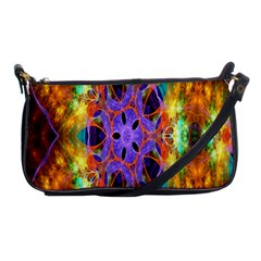 Kaleidoscope Pattern Ornament Shoulder Clutch Bags by Celenk