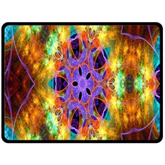 Kaleidoscope Pattern Ornament Fleece Blanket (large)  by Celenk