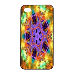 Kaleidoscope Pattern Ornament Apple Iphone 4/4s Seamless Case (black) by Celenk