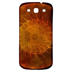 Orange Warm Hues Fractal Chaos Samsung Galaxy S3 S Iii Classic Hardshell Back Case by Celenk