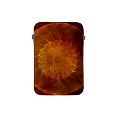 Orange Warm Hues Fractal Chaos Apple Ipad Mini Protective Soft Cases by Celenk