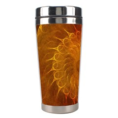 Orange Warm Hues Fractal Chaos Stainless Steel Travel Tumblers by Celenk