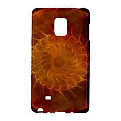 Orange Warm Hues Fractal Chaos Galaxy Note Edge by Celenk