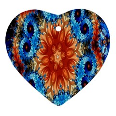 Alchemy Kaleidoscope Pattern Heart Ornament (two Sides) by Celenk