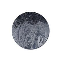 Abstract Art Decoration Design Rubber Coaster (round)  by Celenk