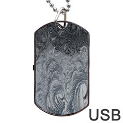 Abstract Art Decoration Design Dog Tag Usb Flash (two Sides) by Celenk