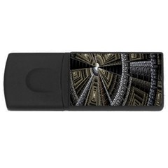 Fractal Circle Circular Geometry Rectangular Usb Flash Drive by Celenk