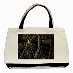 Fractal Circle Circular Geometry Basic Tote Bag by Celenk