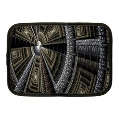 Fractal Circle Circular Geometry Netbook Case (medium)  by Celenk