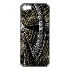 Fractal Circle Circular Geometry Apple Iphone 5 Case (silver) by Celenk
