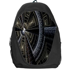 Fractal Circle Circular Geometry Backpack Bag