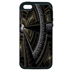Fractal Circle Circular Geometry Apple Iphone 5 Hardshell Case (pc+silicone) by Celenk