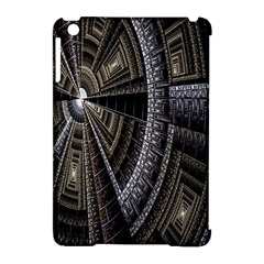 Fractal Circle Circular Geometry Apple Ipad Mini Hardshell Case (compatible With Smart Cover) by Celenk