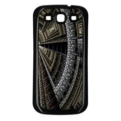 Fractal Circle Circular Geometry Samsung Galaxy S3 Back Case (black) by Celenk