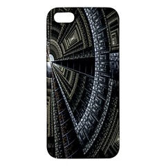 Fractal Circle Circular Geometry Iphone 5s/ Se Premium Hardshell Case by Celenk