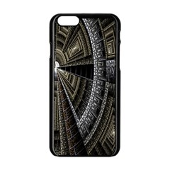 Fractal Circle Circular Geometry Apple Iphone 6/6s Black Enamel Case
