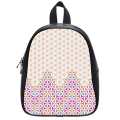 Flower Of Life Pattern 1 School Bag (small)