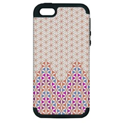 Flower Of Life Pattern 1 Apple Iphone 5 Hardshell Case (pc+silicone) by Cveti