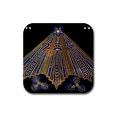 Deco Fan Rubber Coaster (square)