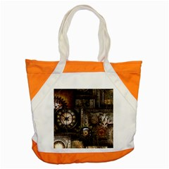 Steampunk, Wonderful Clockwork With Gears Accent Tote Bag by FantasyWorld7