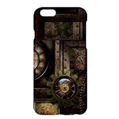 Steampunk, Wonderful Clockwork With Gears Apple Iphone 6 Plus/6s Plus Hardshell Case by FantasyWorld7