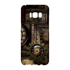 Steampunk, Wonderful Clockwork With Gears Samsung Galaxy S8 Hardshell Case  by FantasyWorld7