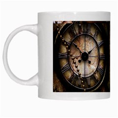 Steampunk, Wonderful Clockwork With Gears White Mugs by FantasyWorld7